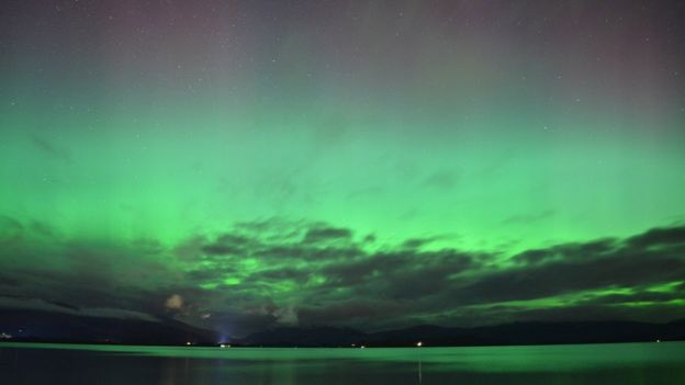 6th March 2016 aurora borealis Loch Lomand by Vanessa Graham
