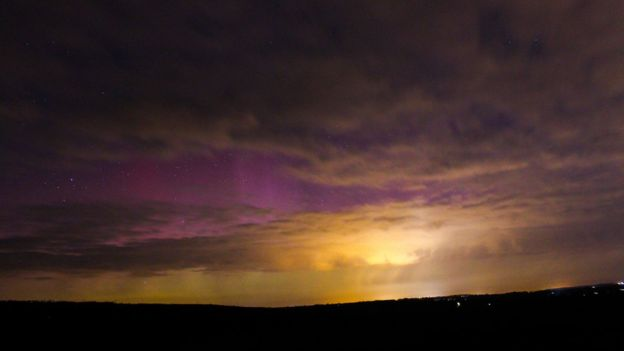 6th March 2016 aurora borealis Oxfordshire by Mary Spicer