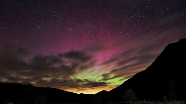 6th March 2016 aurora borealis Patterdale, Cumbria by Thomas Matthews