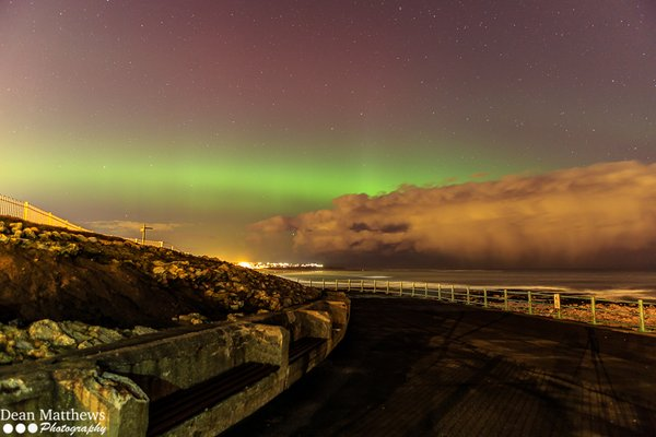 6th March 2016 aurora borealis Seaburn, Sunderland