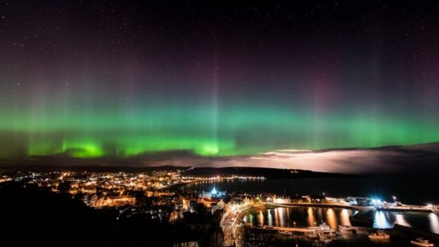 6th March 2016 aurora borealis Stonehaven Aberdeenshire by Brian Doyle