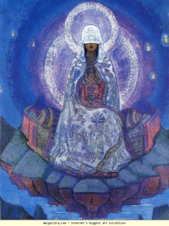 cropped Mother of the World by Nicholas Roerich