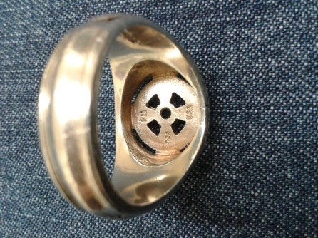 Fora Signet Ring for a Man hallmarks 4