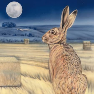 Moon Gazing Hare by Joanna May