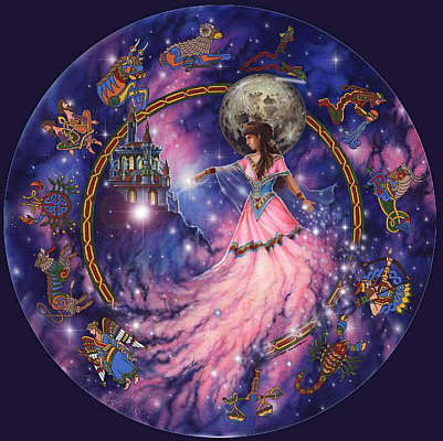 Moon Goddess Zodiac artist unknown