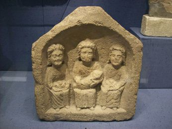 Relief of three Goddesses, or Matres, Corinium Museum, Cirencester