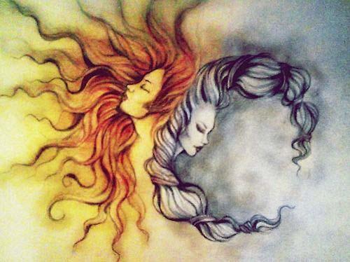 sun and moon goddess