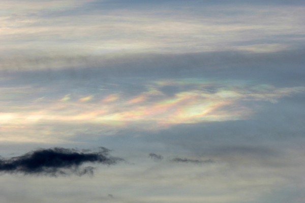 Dispersing iridescent Kelvin-Helmholtz clouds, Mutare, Zimbabwe, March
