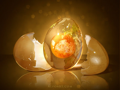 Egg Planet Cosmic Egg Divination by Alexndraf