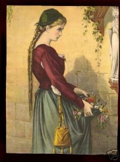 Flower maiden in front of shrine