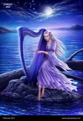 Divine Lady Clarity - Centre - Quintessence - Midnight Harp by Esmira