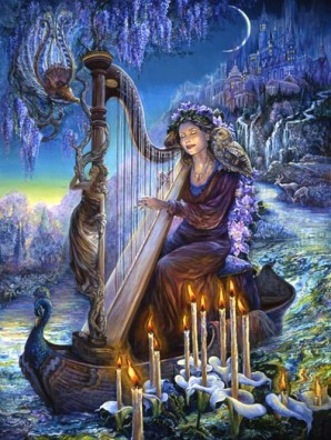Divine Lady Patience - Centre - Quintessence - Minerva's Melody by Josephine Wall