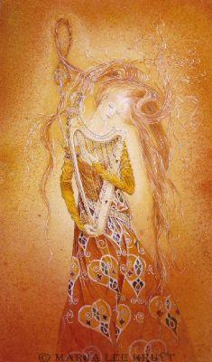 Divine Lady Vision - Centre - Quintessence - Dreamharp by Marja Lee Kruÿt