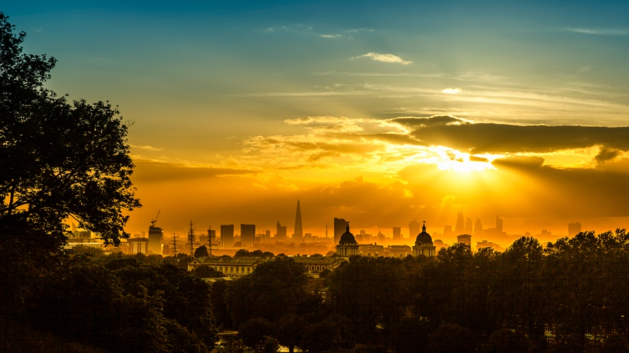 Sunset over London from Greenwich Park by MikeMey67