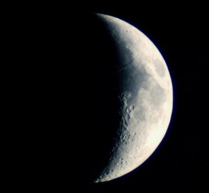 Waxing Crescent Moon Image