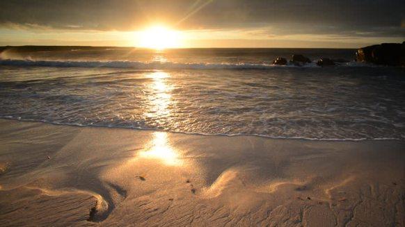 Hebrides sunset on isle of barra
