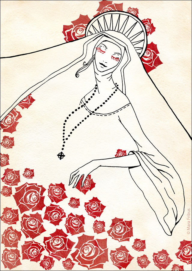 madonna-of-roses by Maria Fribus adapted with Fora