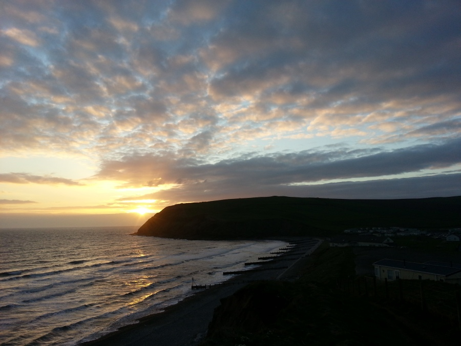 St Bees Head at sunset by Doug Sim