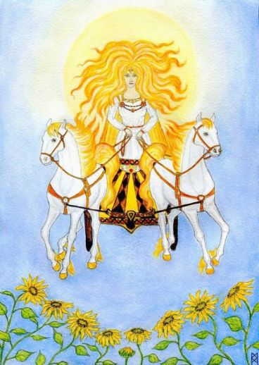 Sunna+or+Sól.+Norse+goddess+of+the+sun,+