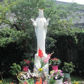 3. Statue of Our Lady of Beauraing located at location of the apparition, Belgium
