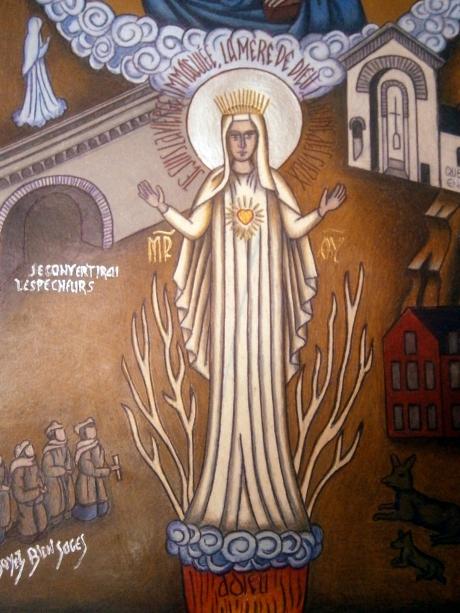 5. Icon Notre Dame au CŒur D'or Beauraing Vierge Marie
