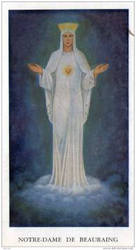 our lady of beauraing prayer card 1