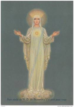 our lady of beauraing prayer card 2