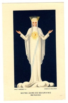 our lady of beauraing prayer card 4