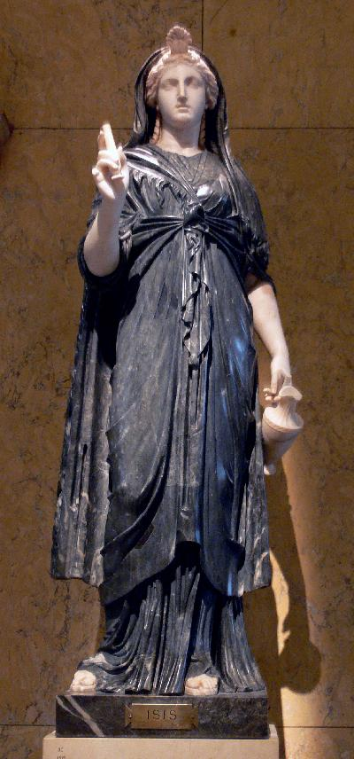 Roman statue of Isis 1st half 2nd CE Naples, Italy