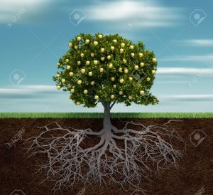 8628574-tree-with-golden-apple-this-is-a-3d-render-illustration-stock-illustration