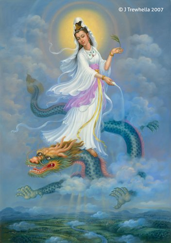 Quan Yin and Water Dragon by Zheng Jian