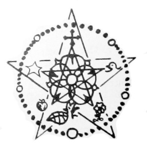 Illustration Madrian Rosary, Rose, 2 Stars