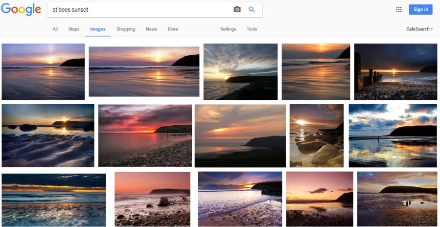 st-bees-sunset-google-search-result