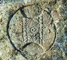 Double axe Labrys carved on Thracian dolmen