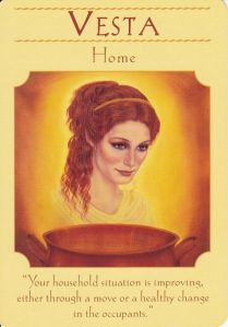 Hestia in Goddess Guidance Oracle Cards by Doreen Virtue (as Vesta)