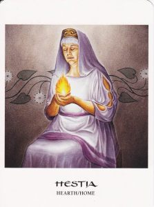 Hestia in The Goddess Oracle deck by Hrana Janto & Amy Sophia Marashinsky