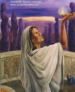 Hestia in The Goddess Wisdom Cards by Jill Fairchild, Regina Schaare & Sandra M. Stanton (as Vesta)