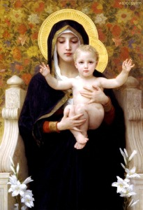 Haloed Divine Mother and Holy Child