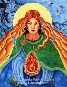 St Brigid of Kildare by Joanna Powell Colbert