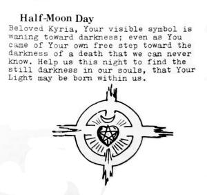The Rite of Sacrifice Booklet, 1977, Half Moon Day Cross of Resurrection, Heart, Star, Crescent Moon